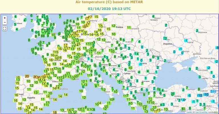 Απίστευτο: Ξεπερνά τους 18c η θερμοκρασία στην κεντρική και βόρεια Ευρώπη