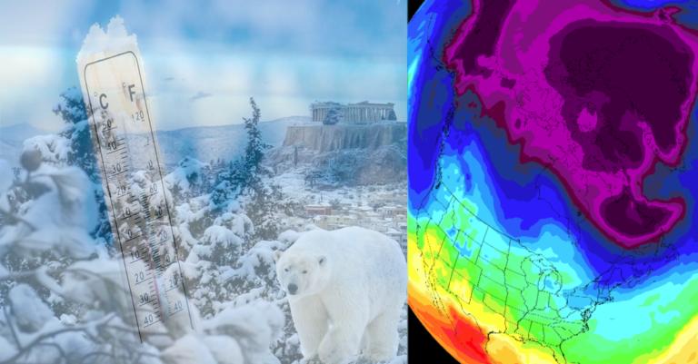 Ψυχρές-Θερμές εισβολές στην Αθήνα. Στατιστικά θερμοκρασιών χειμώνα-καλοκαιριού.