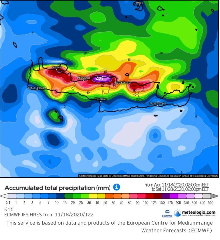 Ισχυρές βροχές στην Κρήτη την Πέμπτη- Παρασκευή