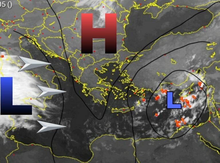 Δορυφορική ανάλυση: Σχηματίζεται η διαταραχή στη Μεσόγειο